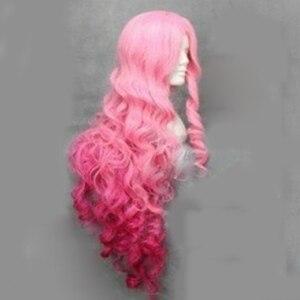 Image 4 - HAIRJOY Synthetische Haar Tsukimiya Ringo in Prinz von Song Cosplay Perücke Rot Rosa Ombre Lockige Perücken