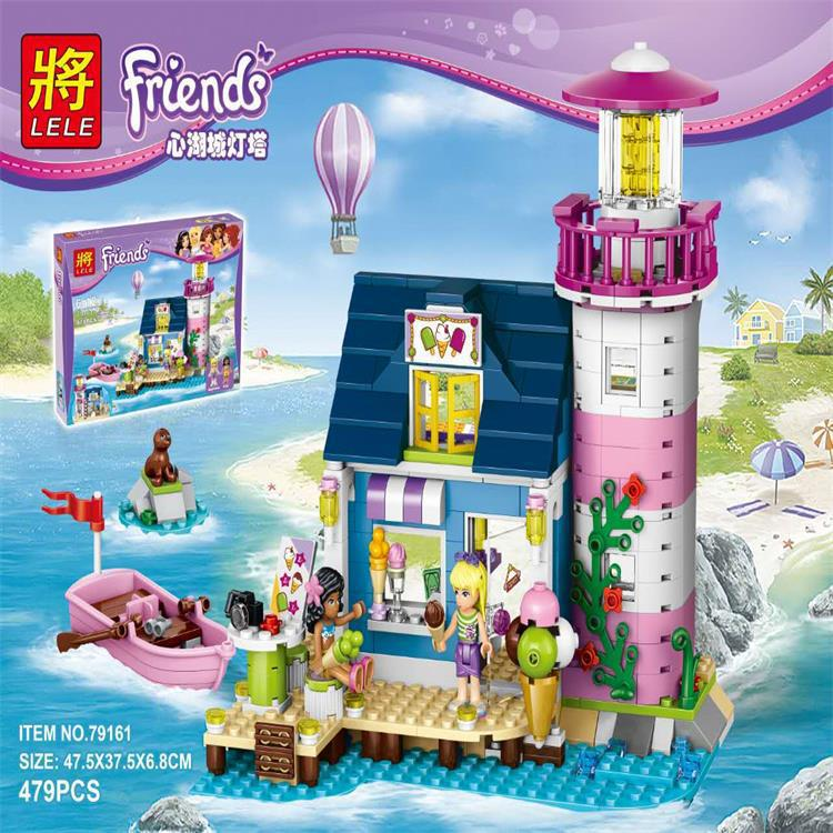 478Pcs Friends Heartlake Lighthouse Model Building Kit Block Brick With Lepin Friends 41094 toys for children gift игрушка lego friends 41094 маяк