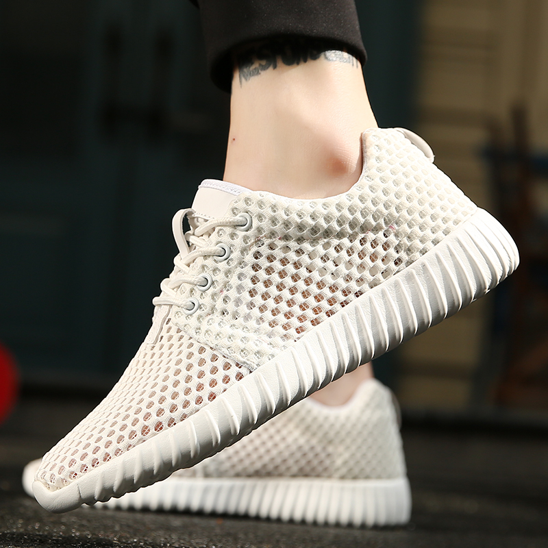 2019 Ultra Light Casual Vulcanize Shoes Mens White Sneakers Lace Up Flats Shoes Man Cheap Breathable Footwear Zapatos X8-87(China)