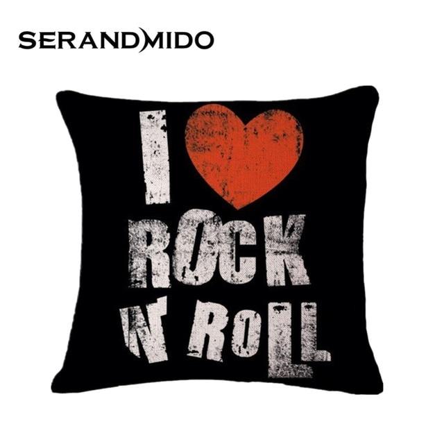 Black Rock Roll Pillow Cover Cotton Linen 4040cm Square Decorative Magnificent Decorative Roll Pillow
