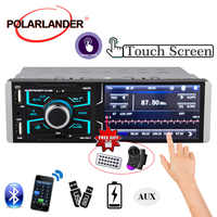 1din 4.1 inch Radio Audio Stereo HD Touch Screen AUX FM Radio Station Bluetooth Mirrorlink 1 Din Car Auto-radio Rear View Camera