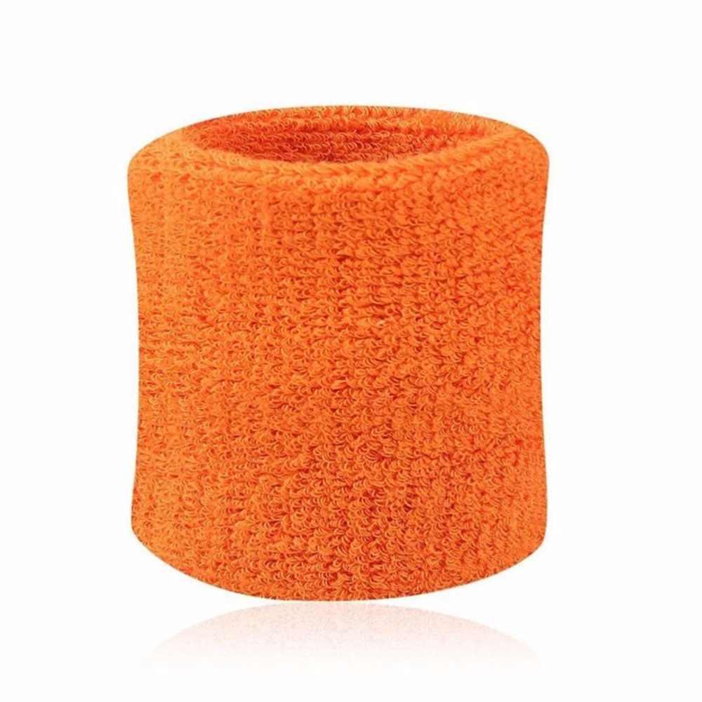 1 par de pulseras suaves de fibra de algodón bandas para la muñeca deporte muñequera de apoyo Wrap Sweat muñequera tenis Squash bádminton gimnasio