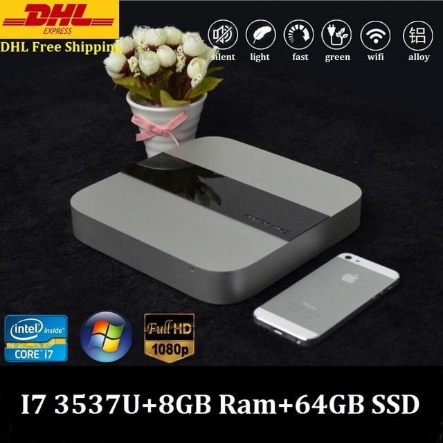 X86 Computing Cheap Mini PC Windows 7 Mini Nuc Smart PC Intel Core i7 3537U 3.1GHz 8GB Ram 64GB SSD 300M Wifi DHL Free Shipping