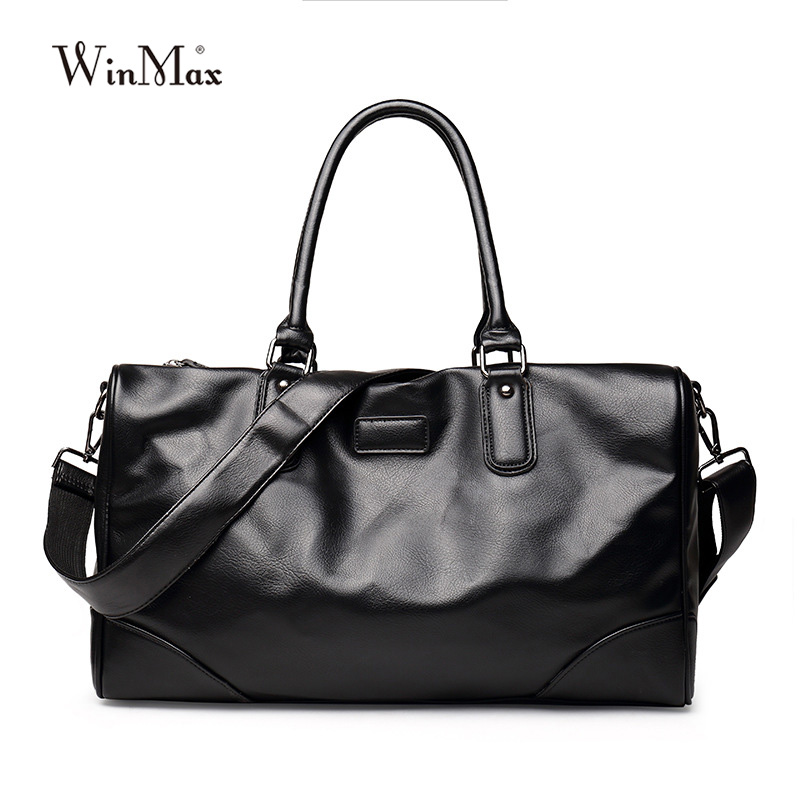 Luxury Brand Men Fashion Split Leather Large Capacity Travel Duffle Totes Top Handle Luggage Handbags Shoulder Bags For Male