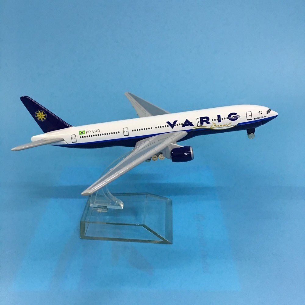 JASON TUTU Aircraft Model Diecast Metal 1:400 16cm Plane Model Airplane Model Brazil VARIG Airlines Boeing B777 Airplanes Model