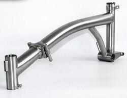 Rower składany rama GR9 TI3AL2.5V stop tytanu dla brompton