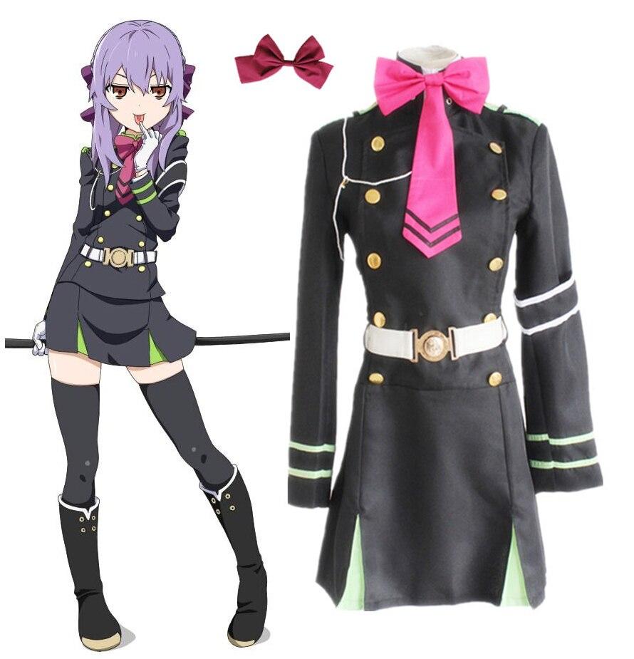 Anime Seraph Of The End Owari No Seraph Hiiragi Shinoa Cosplay Costumes Full Set Uniform