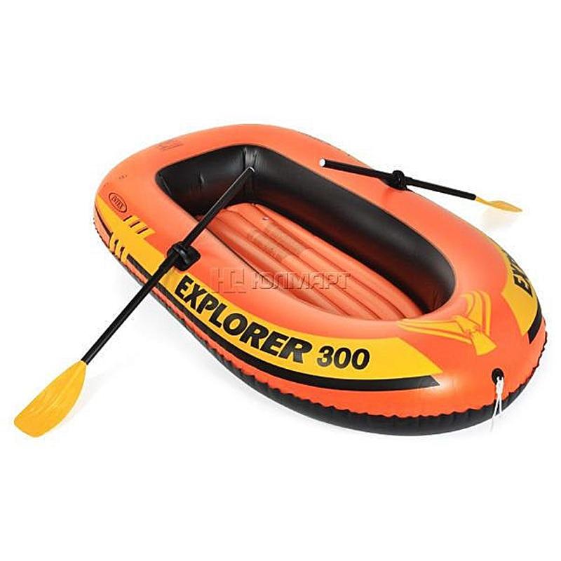 Intex Explorer 200, 2-osobowy zestaw dmuchanych łodzi z wiosłami - Sporty wodne - Zdjęcie 3