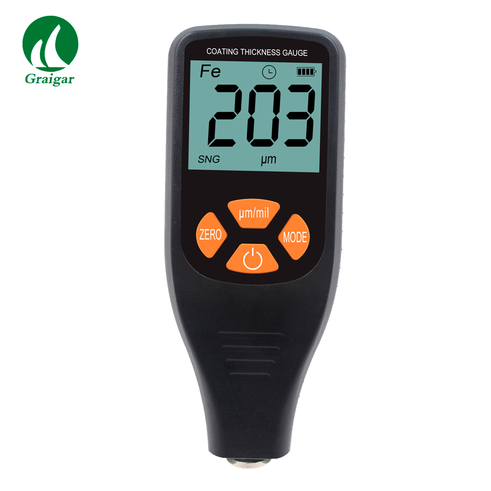 New JCT-300 Coating Thickness Gauge LCD Display Minimum Resolution 0.1um with F&NF Integral Probe Thickness MeterNew JCT-300 Coating Thickness Gauge LCD Display Minimum Resolution 0.1um with F&NF Integral Probe Thickness Meter