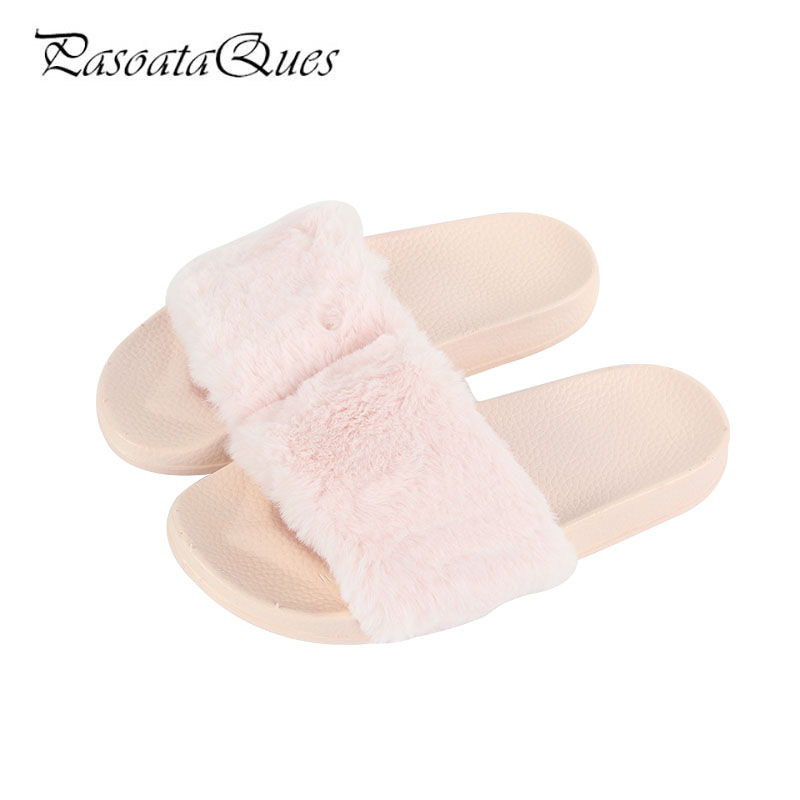Rose 2017 Automne Hiver Femmes Pantoufles De Mode Confortable Respirant Intérieur Maison Femmes Maison Chaussures PasoataQues Marque 145