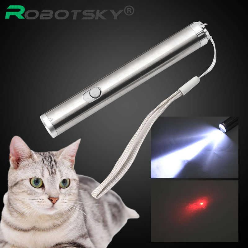 3 in1 500LM מיני LED לפיד UV מצביע לייזר עט לייזר אדום פנס מנורה משולבת עבור 50 m