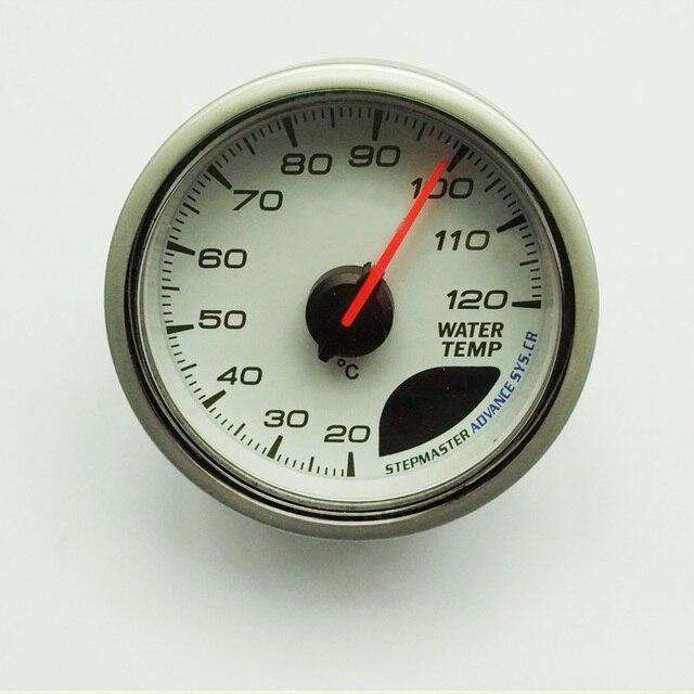 Water Temp Gauge 60 Mm Cr Advance Auto Temperatuurmeter Met Sensor Wit Gezicht