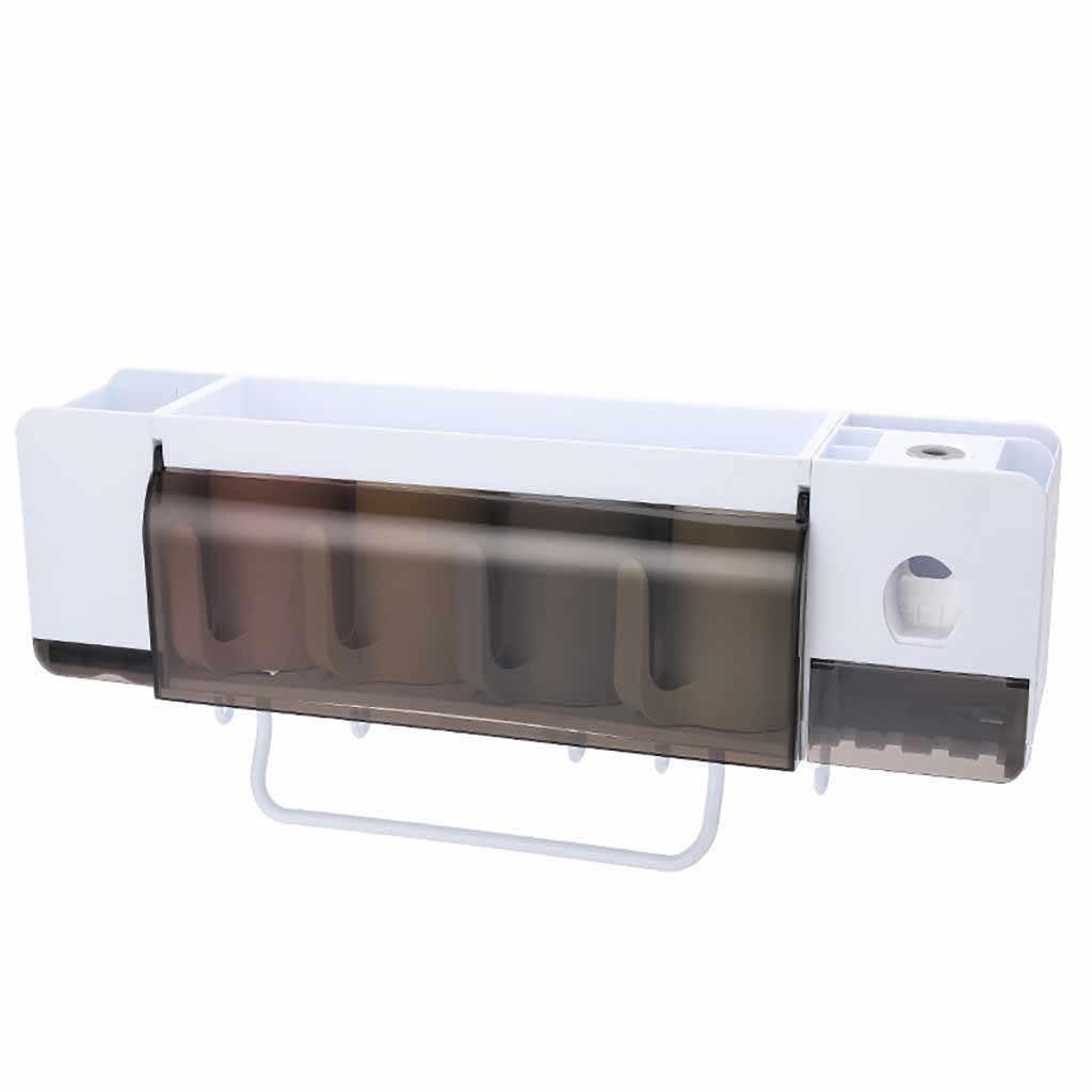 Uchwyt na szczoteczki do zębów pasta do zębów dozownik do wyciskania zestawy akcesoriów łazienkowych 5 sztuk łazienka pudełko do przechowywania przypadku artykuły gospodarstwa domowego