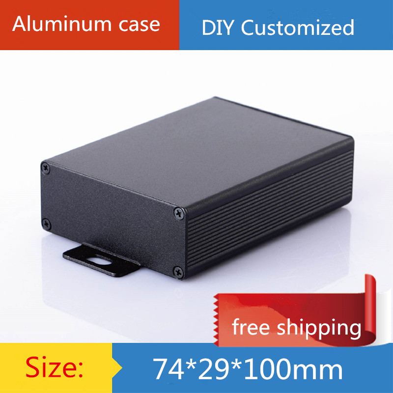 diy amp case 74*29*100mm Mini aluminum amplifier chassis/Electronic Component/PCB circuit board case/AMP Enclosure/case/DIY box