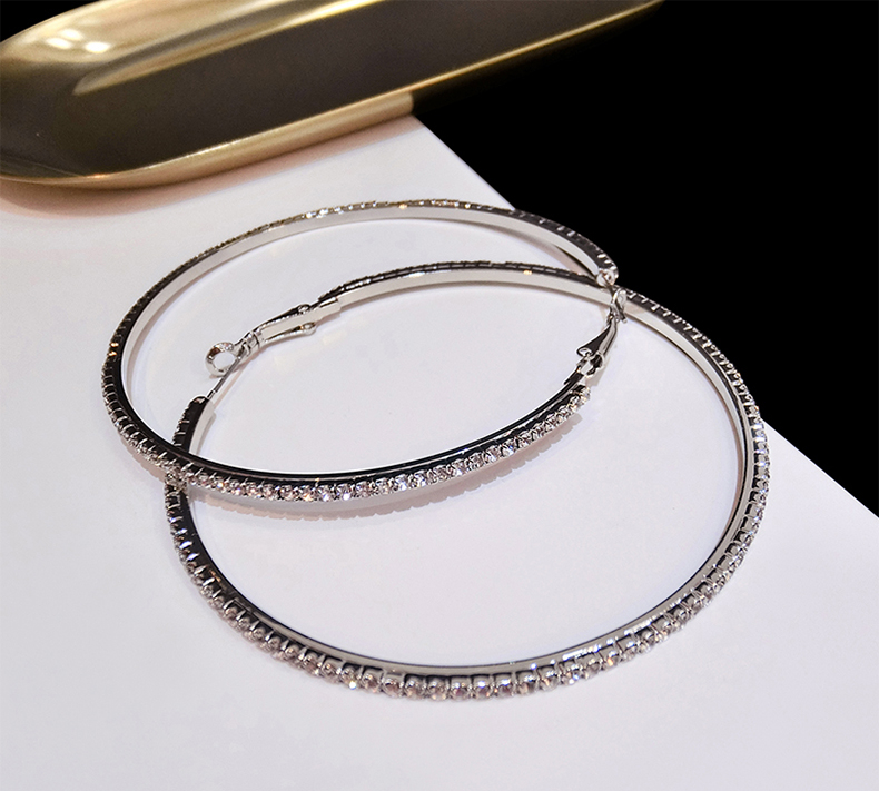 Large hoop earrings Fashion retro classic big circle earrings Hyperbolic 6/8/9/10/cm rose gold trendy women jewelry gifts