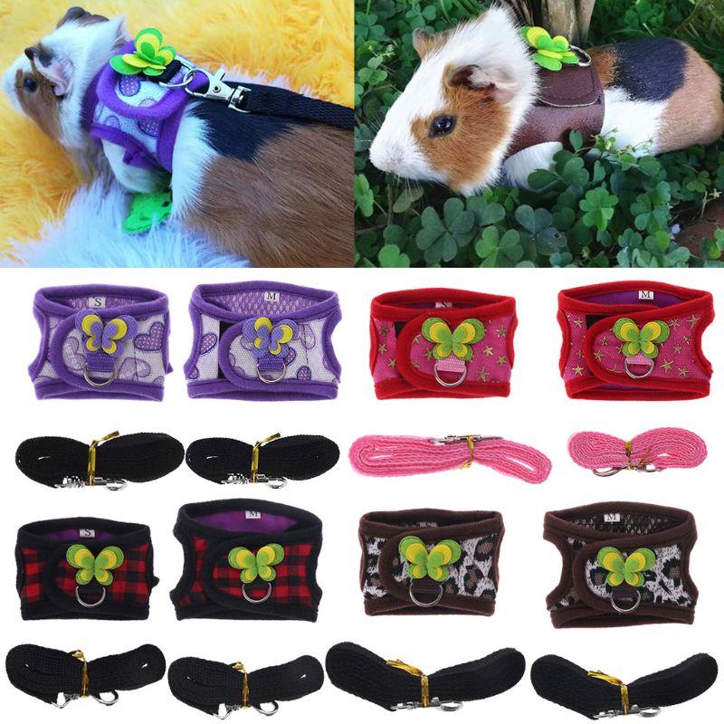 Hamster Harness Vest Adjustable Leash Set For Guinea Pig Chinchilla Mice Rat Ferret Small Animal Accessorie