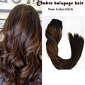Full Shine Extensiones Balayage Hair Clip Ins Extension Brazilian Virgin Human Hair Ombre Clip in Real Hair Extensions 1B/6/1B