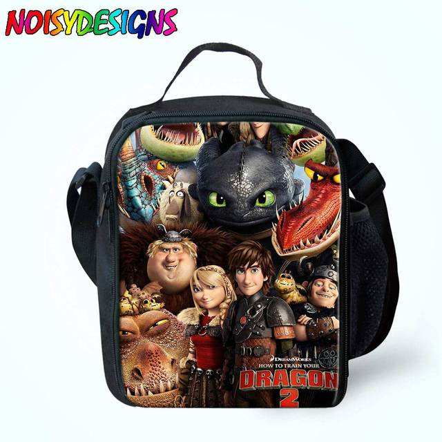 59f1259cb72 Cute How to train your dragon Lunch Bag Thermal Cooler Kids Girls Children  Lunchbox Bags Insulated