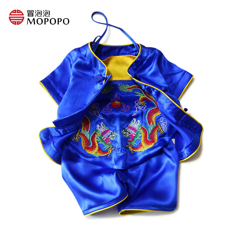 Mopopo Bellyband Baby Boy Clothing Set Short Sleeve Chinese Tang Style Summer Baby Clothing Boy Suit Babykleding Newborn Layette