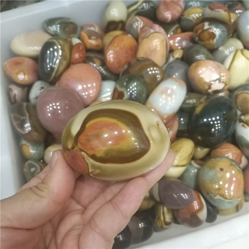 Natural Stones Ball Ocean Jasper Round Mineral Ore Specimen Agate Crystal Quartz Home Desk Decorations Reiki Fengshui Collection