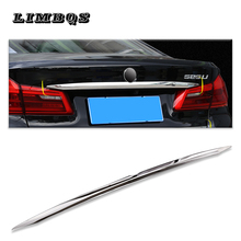 Car Rear Boot Trunk Lid tailgate Strip For BMW New 5 series 2018 2019 on License plate Stainless Steel оплетка на руль mask цена