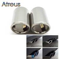 Atreus 2 uds cubierta de tubo de escape para Audi A4 B8 A3 A1 Q5 accesorios de automóvil para VW tizan Volkswagen Passat B7 CC