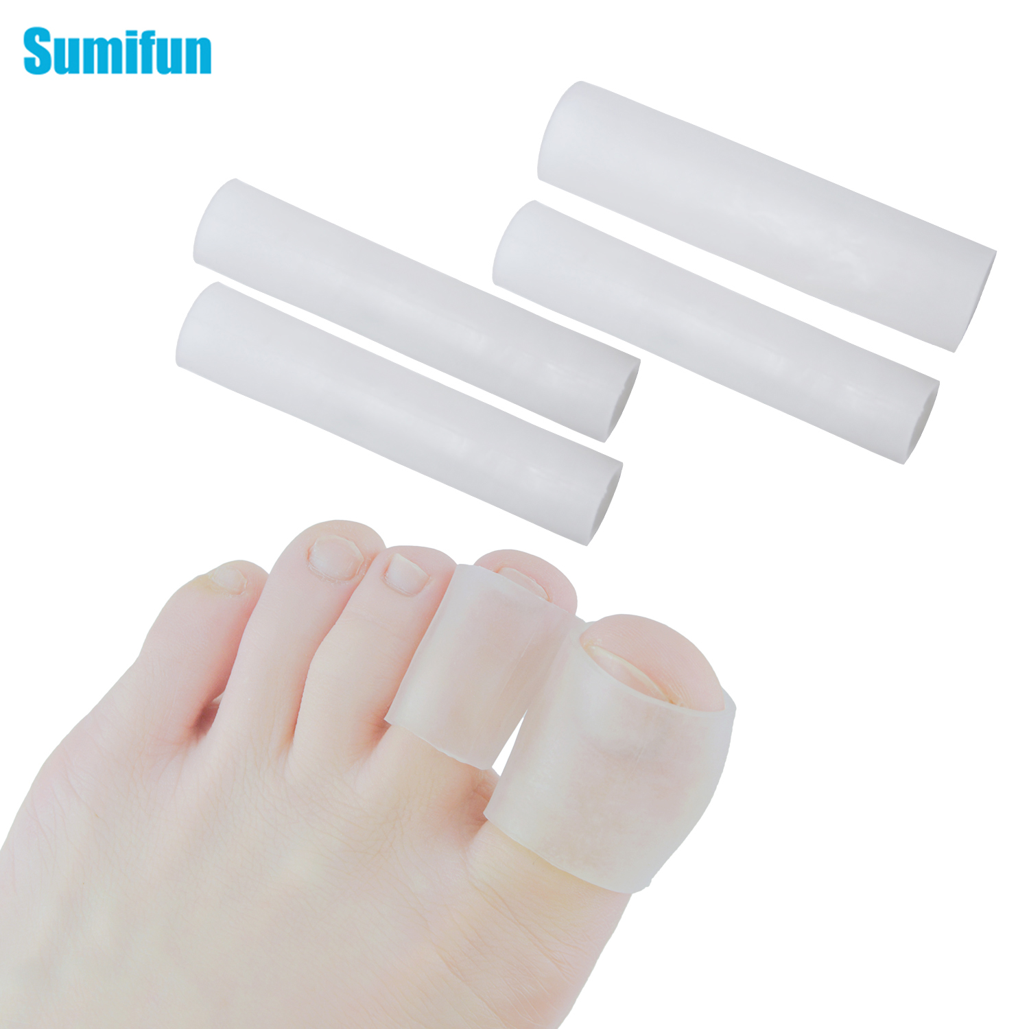 Silicone Thumb Protector Gel Finger Feet And Toe Foot Protector Finger Set Long Corn Set Finger Separator Foot Care C1488