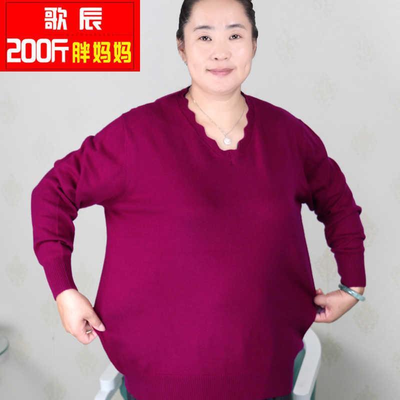 Plus Size Vrouwen Kleding 5XL 6XL7XL 8XL 9XL Grote Size Middelbare Leeftijd Kleding Moeder Kasjmier Trui Gebreide Shirt Lange Mouw