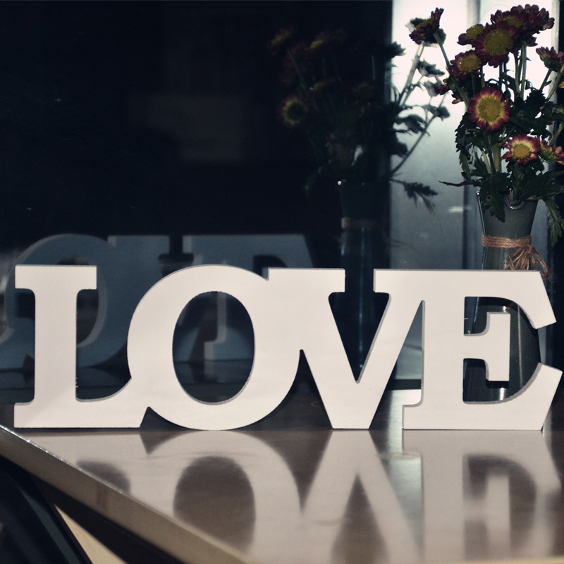 Pvc Standing Love Letters Sign Wedding Decoration Fake Wooden