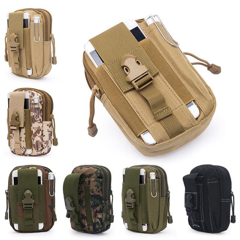 2018 Men Waist Pack Bum Bag Pouch Waterproof Military Belt Waist Packs Molle Nylon Mobile Phone Wallet Travel Bag