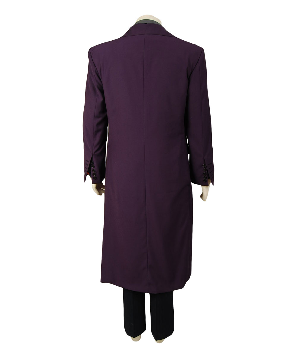 Batman Dark Knight Joker Purple Long Trench Coat Halloween costume ...