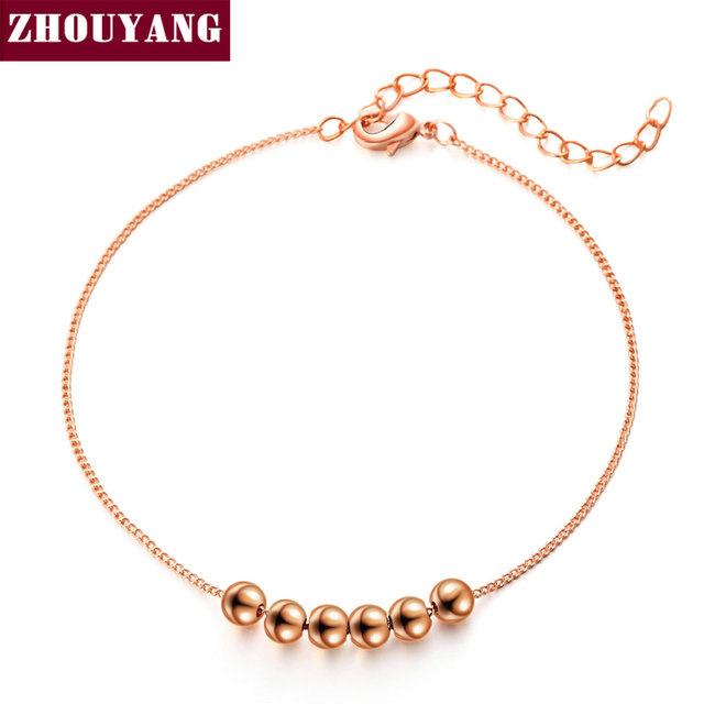 String Together The Happiness  Rose/WhiteGold Plated Link Chain Charm Bracelet Jewelry Top Quality  Wholesale ZYH083 ZYH205