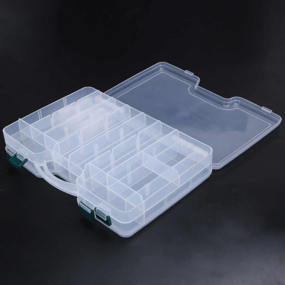Transparent Plastic Fishing Lure Box Fishing Crankbait Bait Hook Storage Case Holder Fishing Tackle Box 7 Styles