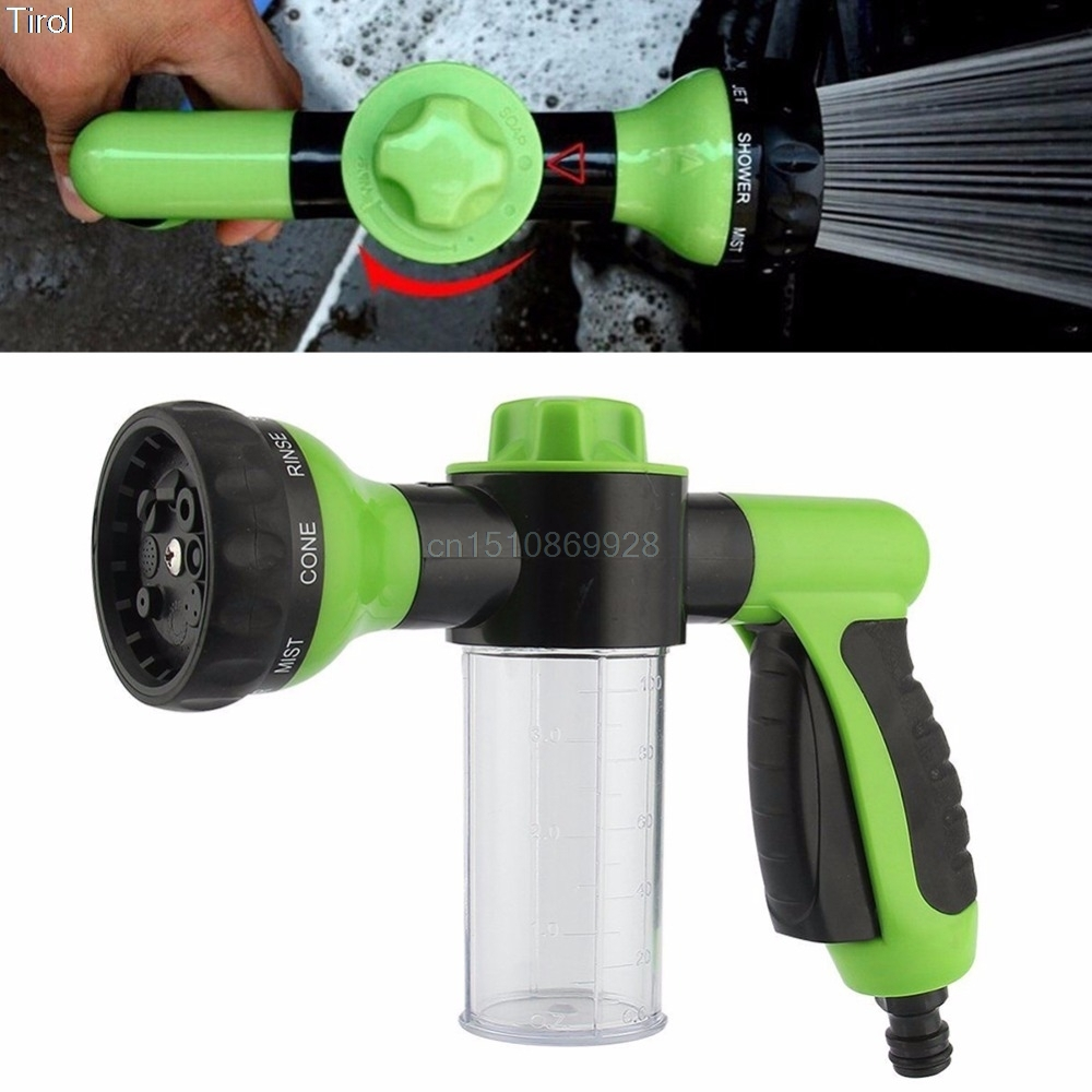 8 in 1 jet spray gun soap dispenser garden watering hose nozzle car washing tool