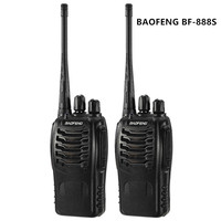 BAOFENG 888S Talkie Walkie 16CH FM UHF 400 470MHz 2 way Radio Transceiver Portable Interphone Long Distance Flashlight