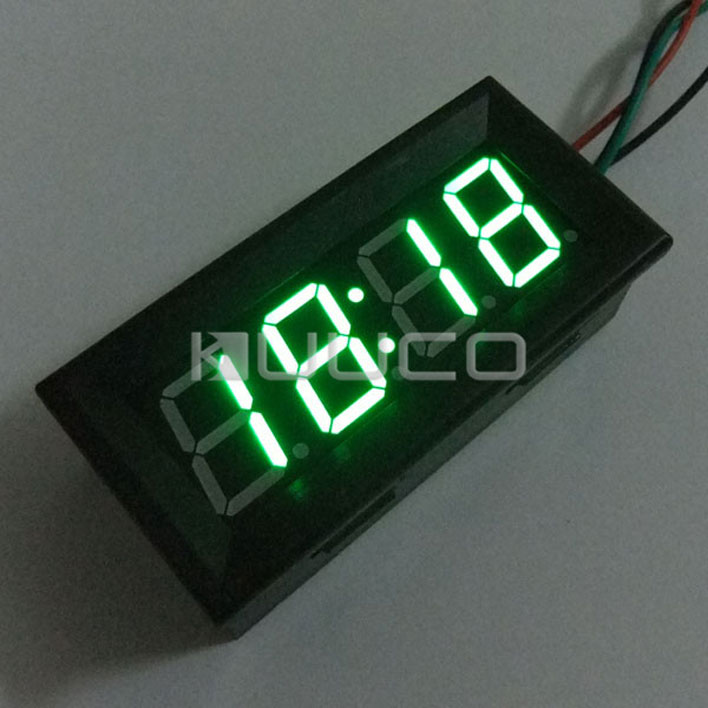 Digital Meter/Panel Meter Adjustable Clock 24-hour Digital Clock Yellow Led display Car Clock DC 12V 24V DIY Time Monitor/Tester digital tester 3in1 multifunction temperature humidity time lcd display monitor meter for car indoor outdoor greenhouse etc