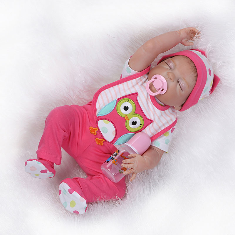 NEW Handmade Girl Doll 22inch Full Body Silicone Reborn Dolls Toys 55cm Realistic Newborn Babies  For Baby Gift Toys 2017 new handmade doll clothing chinese ancient costume evening dress for ob27 bjd 1 6 doll body girl toys dolls accessories