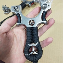 Hunting slingshot strong catapult stainless steel flat rubber band outdoor sports shooting high quality 2019 new
