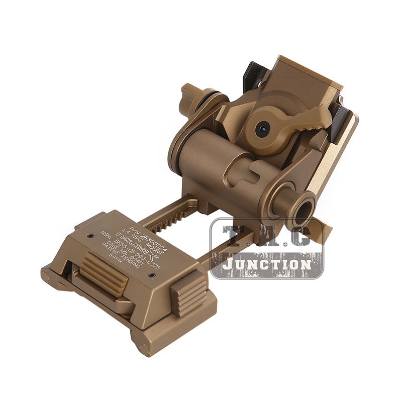 Wilcox L4 G24 Style Breakaway MICH Helmet NVG Mount for Night Vision Goggle AN/PVS-7 14 15 18 21 L4G24 Aerospace Grade Metal TAN