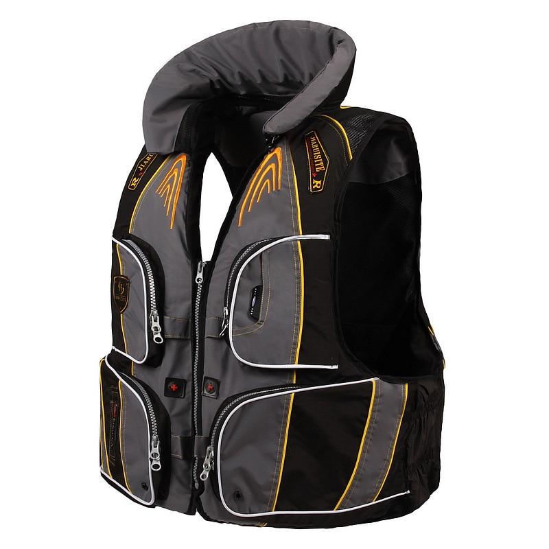 Adjustable Fishing Vest Outdoor Water Sports Life Vest Multi Functional Multi Pocket Waterproof Oxford Cloth Fishing Jacket