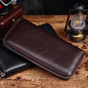 Image 5 - KAVIS 2019 Famous Brand Men Wallets Genuine Leather Coin Purse Male Cuzdan  Clutch Long Business Walet Portomonee Magic Perse