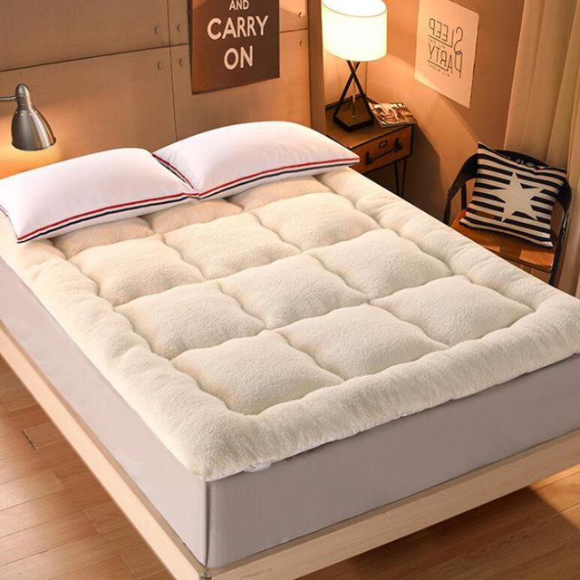 queen size mattress topper VESCOVO queen full size Mattress Topper warm bed topper velvet  queen size mattress topper