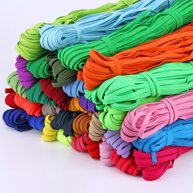 Colorful High-elastic Round Elastic Bands 6mm Rope Rubber Band Line Spandex Ribbon Sewing Lace Trim Waist Band Garment Accessory