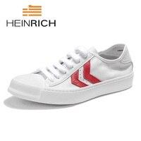 HEINRICH Hot Sale Mens Shoes Original Leather Luxury Brand Men's Footwear Designer Black Mens Sneakers Hard Wearing Young Shoes