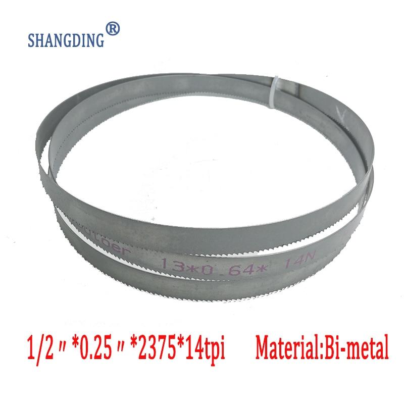 """Aukščiausios kokybės metalo apdirbimas 93,5 """"x 1/2"""" x 0,25 """"x 14 taškų arba 2375 * 13 * 0,65 * 14 taškų M42 plieno juostinių pjūklų diskai Bi-metalas"""