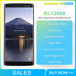 Image 2 - Fast shipping on DOOGEE BL12000 12000mAh battery 4GB 32GB Smartphone phone 6.0 inch18:9 FHD+16MP 4 Camera Android 7.0