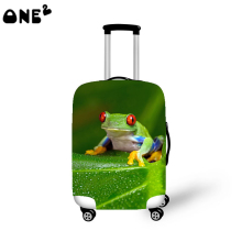2016 ONE2 Design frog picture printing cover apply to 22,24,26 inch suitcase custom canvas kids luggage cover