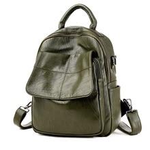 Женщины плед карман с клапаном натуральная кожа рюкзак школьные сумки для девочек-подростков Дизайнер Высокое качество Рюкзаки Mochilas Эсколар