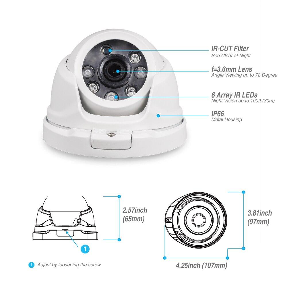 Tonton 1080P 8CH 5-in-1 DVR Kit CCTV Surveillance System Face Detection Outdoor security 2MP camera Video surveillance system