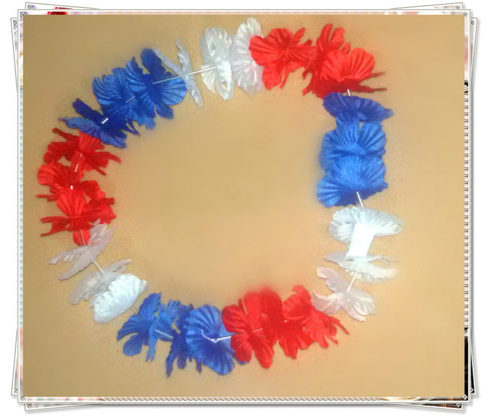 10pcslotfrance Flag Color Hawaii Necklace Festive Party Supplies